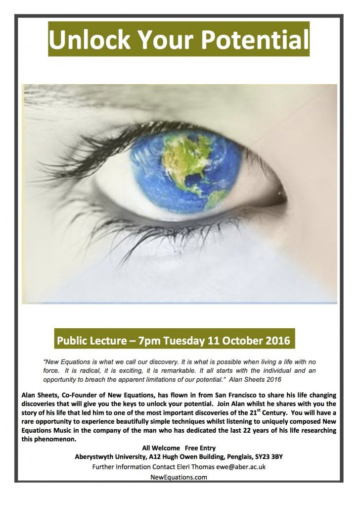 Poster for a workshop with a picture of an eye with the world as the Iris