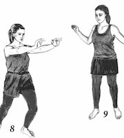 A drawing of a women doing two different Postures of Strength